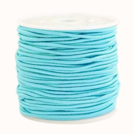 Elastiek 1.5mm Aqua Blauw, 1 meter