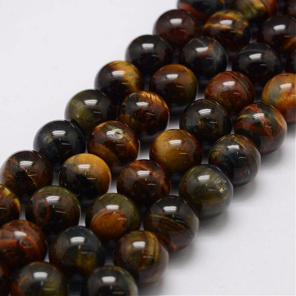 Natural Tiger Eye Beads 8mm, strand 44 pieces