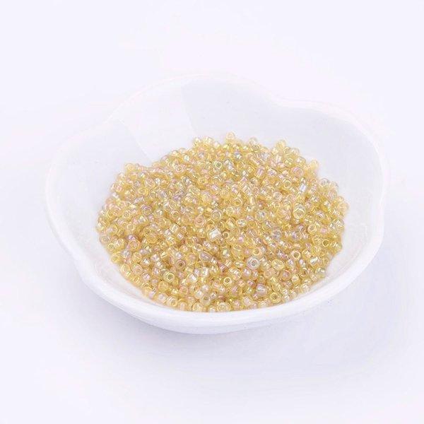 Seed Beads Yellow Shine 4mm, 20 gram