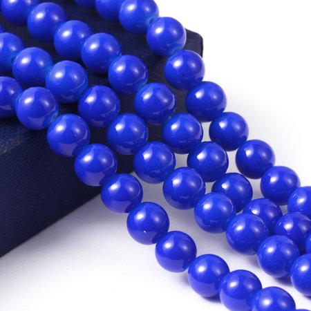 100 stuks Glaskralen 4mm Kobalt Blauw