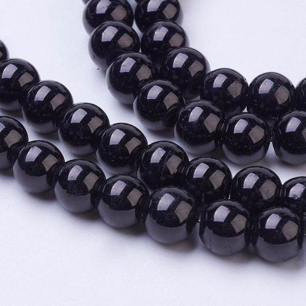 100 stuks Glaskralen 4mm Zwart