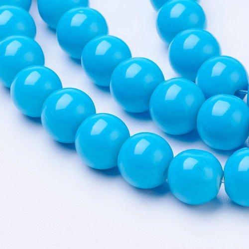 100 pieces Glassbeads 4mm Blue