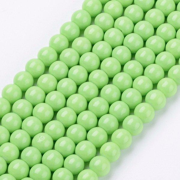 100 stuks Glaskralen 4mm Licht Groen