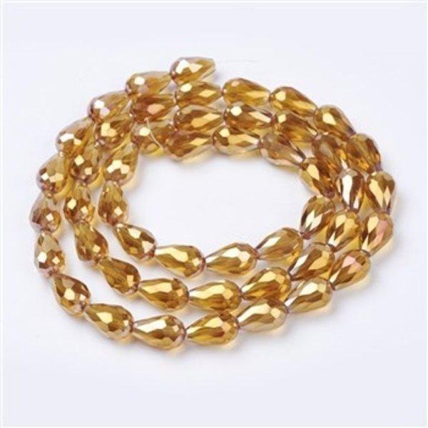 10 stuks Electroplate Druppelkralen 15x10mm Gouden Shine