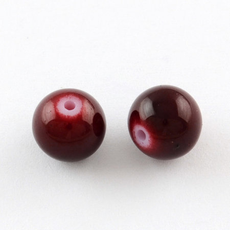 100 pieces Glassbeads 4mm Wine Red
