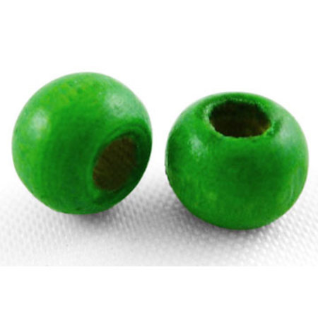 100 pieces Wooden Beads 6mm Green
