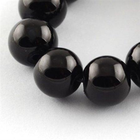 80 stuks Glaskralen 6mm Zwart