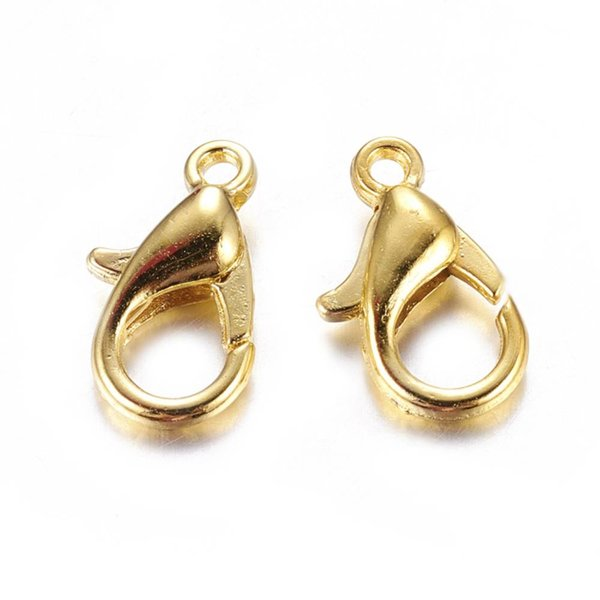 Lobster Clasp 10mm Gold, 10 pieces
