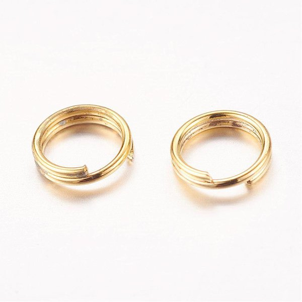 50 pcs 6mm split ring gold