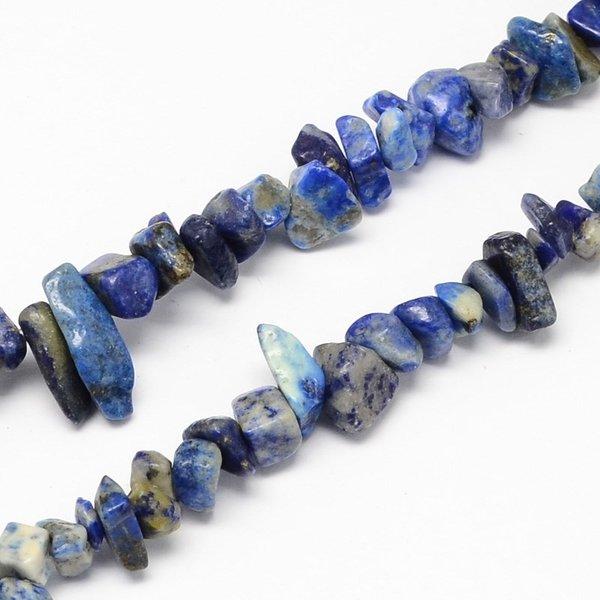 Natural Lapis Lazuli Chips Kralen 4x10mm, circa 200 stuks, streng 80cm