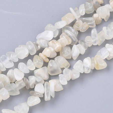 Natural Moonstone Chips Beads 3x9mm, circa 250 stuks