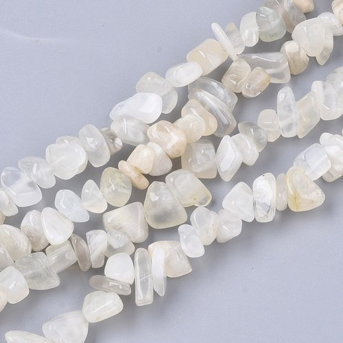 Natural Moonstone Chips Beads 3x9mm, circa 240 stuks