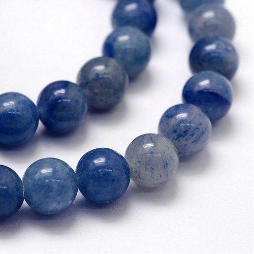 Blue Aventurine Beads 8mm, strand 46 pieces