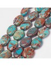Natural Chrysocolla Kralen 16x12mm, streng 24 stuks