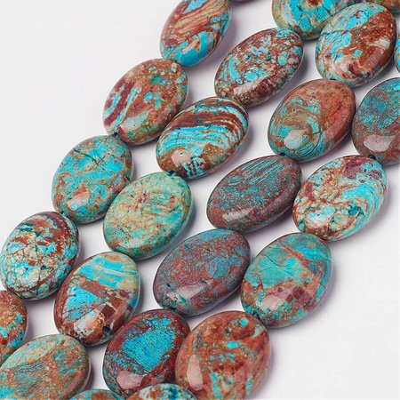 Natural Chrysocolla Beads 16x12mm, strand 20 pieces