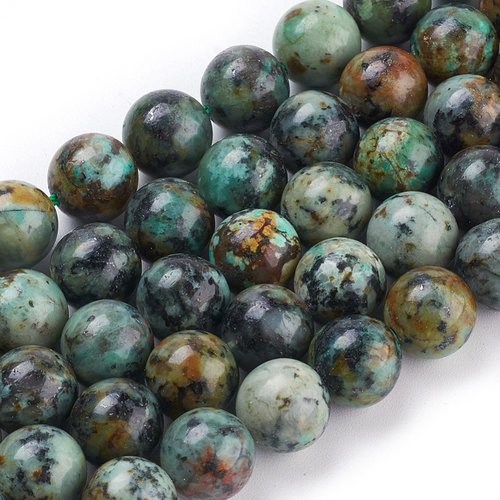 Natural African Turquoise Beads 8mm, strand 47 pieces