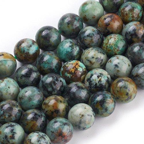 Natural Afrikaans Turquoise Kralen 8mm, streng 47 stuks