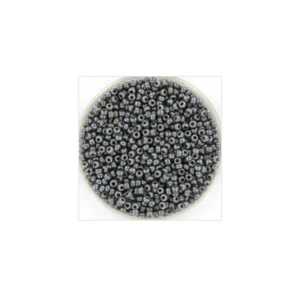 Miyuki Rocailles 11/0 Opaque Luster Smoke, 5 gram