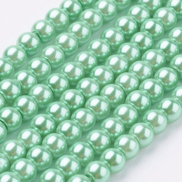 Top Quality Glass Pearls 4mm Spring Green, strand 100 pieces