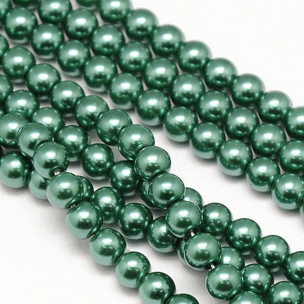Top Quality Glasparels 6mm Donker Groen, streng 72 stuks