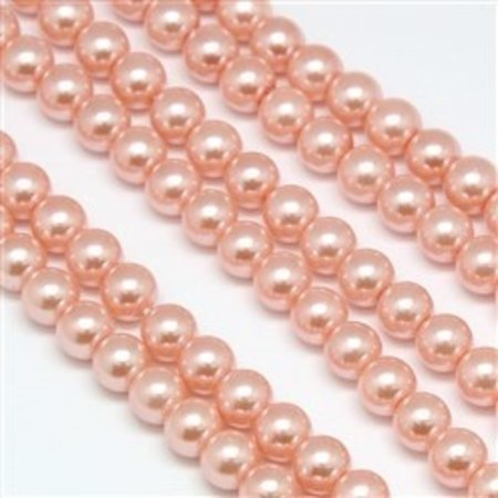 Strand 72  pieces Top Quality Glass Pearls 6mm Light Vintage Pink
