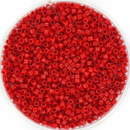 Miyuki Delica's 11/0 Opaque Red, 5 gram