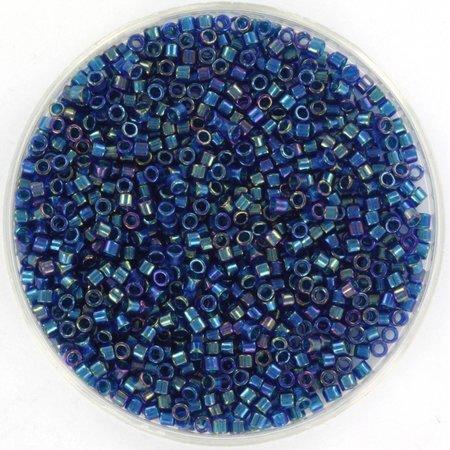 Miyuki Delica's 11/0 Emerald Lined Cobalt AB, 5 grams