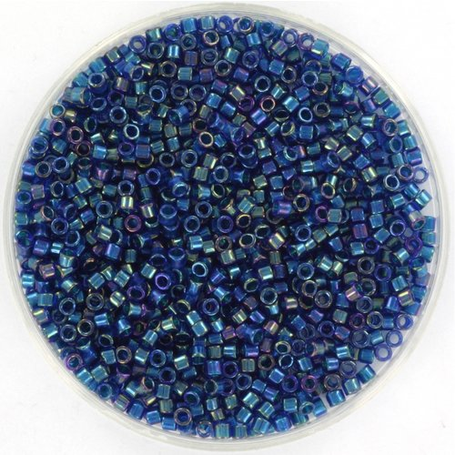Miyuki Delica's 11/0 Emerald Lined Cobalt AB, 5 gram
