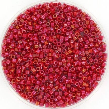 Miyuki Delica's Opaque Luster Red, 5 grams