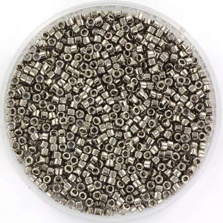 Miyuki Delica's 11/0 Plated Nickel, 3 gram