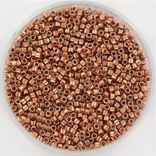 Miyuki Delica's 11/0 Plated Copper, 5 gram
