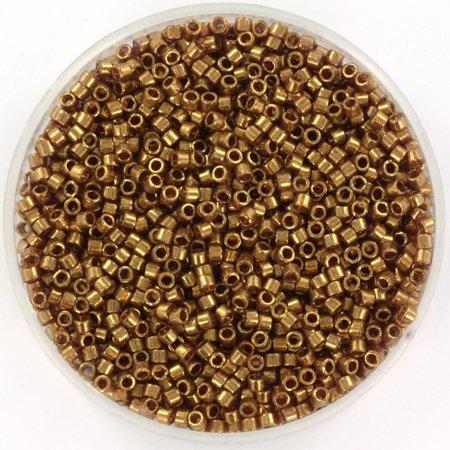 Miyuki Delica's 11/0 Gold Luster Dark Topaz, 5 gram