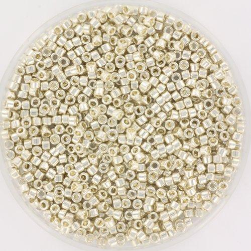 Miyuki Delica's 11/0 Galvanized Silver, 5 grams