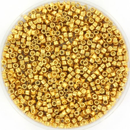 Miyuki Delica's 11/0 Duracoat Galvanized Gold, 5 grams