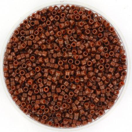 Miyuki Delica's 11/0 DuraCoat Opaque Dyed Cognac, 5 grams