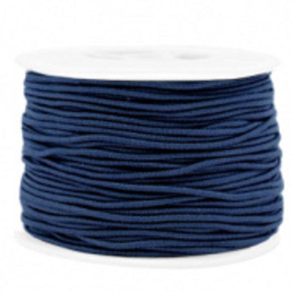 Elastiek 1.5mm Donker Blauw , 1 meter