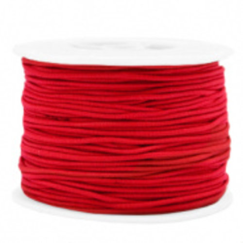 Elastiek 1.5mm Rood, 1 meter