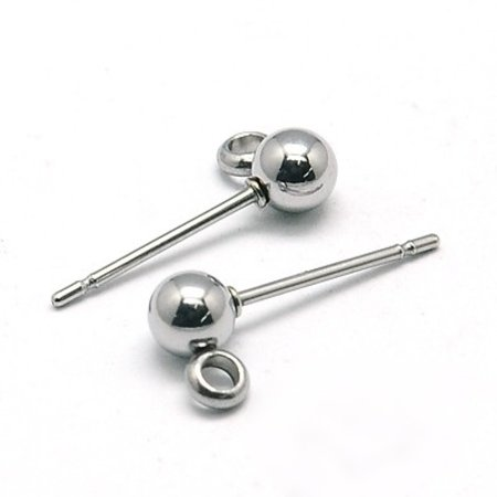 8 pieces Stainless Steel Stud Earring 15x4mm