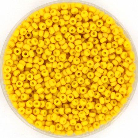 Miyuki Rocailles 11/0 Opaque Matte Canary, 5 gram