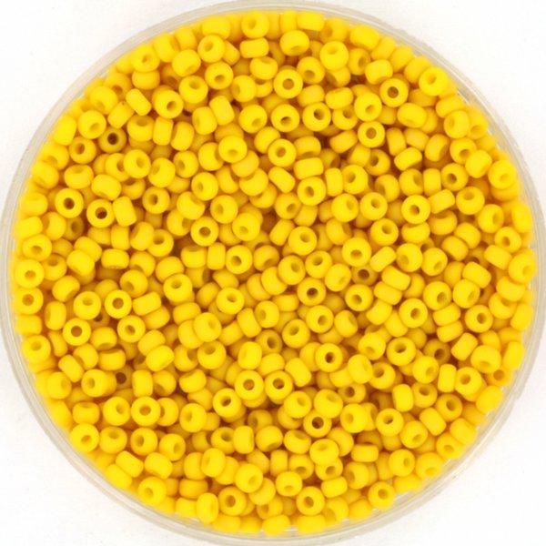 Miyuki Rocailles 11/0 Opaque Matte Canary 5 gram