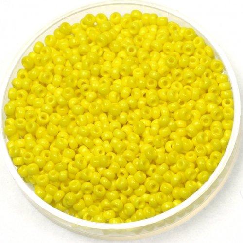 Miyuki Rocailles 11/0 Opaque Yellow, 5 gram