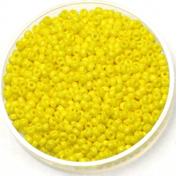 Miyuki Rocailles 11/0 Opaque Yellow 5 gram