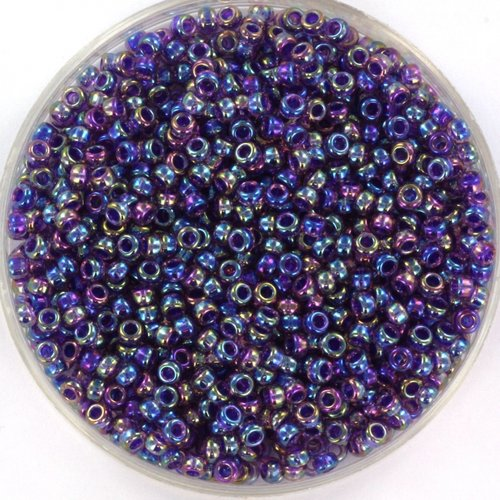 Miyuki Rocailles 11/0 Purple Lined Amethyst AB, 5 gram