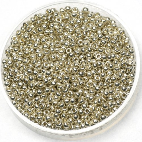 Miyuki Rocailles 11/0 Galvanized Silver, 5 gram