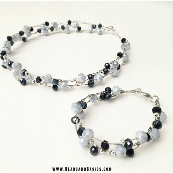 How to Make a Floating Necklace or Bracelet