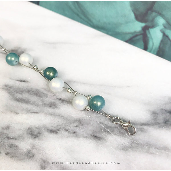 Make a Floating Bracelet with Pearls