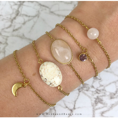 Make Bracelets yourself with link chains and beads
