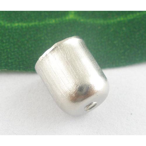 10 stuks Eindkap Zilver 8x7mm