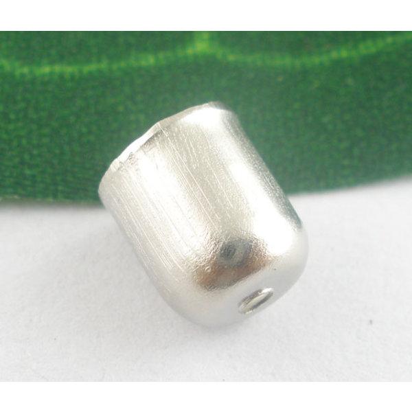 Eindkap Zilver 8x7mm, 10 stuks