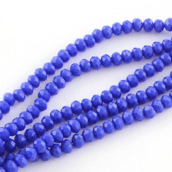 80 stuks Facetkralen 4x3mm Kobalt Blauw